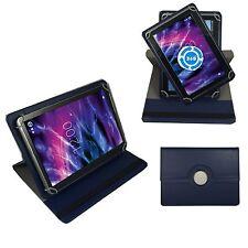 360° 10 Zoll Tablet Tasche für Medion Lifetab P10602 MD 60519 Hülle Dunkel Blau