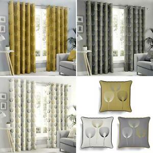 Geometric Eyelet Curtains Delta Abstract Ready Made Lined Ring Top Curtain Pairs