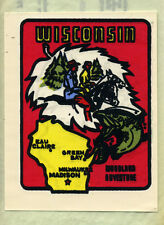 Vintage Water Slide Decal Wisconsin State Travel Souvenir Woodland Adventure