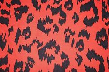 Red Leopard Animal ITY Print #72 Stretch Polyester Lycra Spandex Fabric BTY