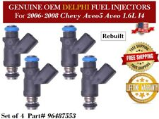 4 Fuel Injectors OEM DELPHI for 2006-2008 Chevy Aveo Aveo5 1.6L I4 #96487553