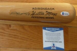 BECKETT WILLIE MAYS SIGNED ADIRONDACK PERSONAL MODEL FULL SIZE BASEBALL BAT 2608