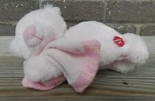 Russ Berrie Pink Sleeping Teddy Bear Plush Lovey Musical Lullaby Blanket 35420