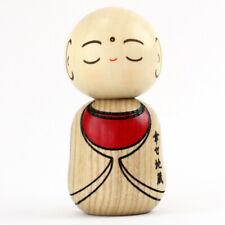Kokeshi Shiawase Jizo - Glücklicher Jizo, japanische Holzpuppe