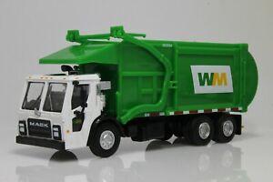 Mack LR Garbage Trash Truck, Waste Management, WM 1:64 Scale Diecast Model