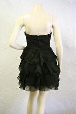 $398 BCBG BLACK (AIJ6L030) PETAL STRAPLESS WOVEN DRESS NWT 12 P