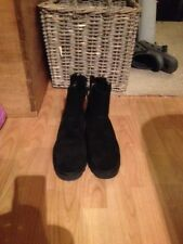 ASH Black Double Zip Sheepskin Ankle Boot Black UK 7 - EUR 40 - Only Tried On