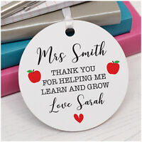 PERSONALISED Teacher Gifts - Teacher Assistant Nursery Thank You Apple Gifts