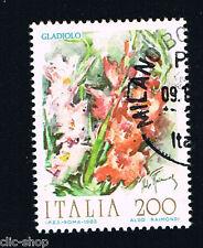 ITALIA 1 FRANCOBOLLO FIORI D'ITALIA GLADIOLO 1983 usato