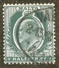 Edward VII (1902-1910) Used Maltese Stamps (Pre-1964)