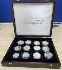 More details for the official silver commemorative coin collection the queen mother bursep2276jl1