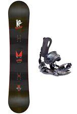 K2 Vandal 137 Kinder Snowboard Set inkl. SP Fastec Snowboard Bindung Board-Set