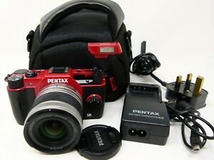 Pentax Q10 12.4MP Digital Camera - Red (Kit w/ SMC 5-15mm Lens)-Used