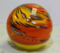#13075m Keith Baker Handmade Contemporary Marble With Lutz and Mica 1.07 Inches