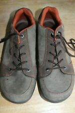 Teva Arrowood Riva Waterproof Sneakers Shoes Mens 13 Dark Gray Leather Orange
