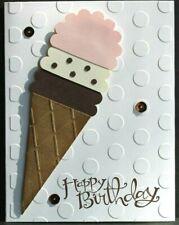 Handcrafted Birthday Card, Ice Cream Cone So Sweet Handmade