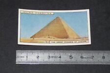 CHROMO 1926 WILLS CIGARETTE CARD EGYPTE EGYPT GREAT PYRAMID OF CHEOPS KHEOPS