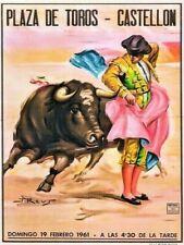 CASTELLON SPAIN BULLFIGHTER POSTER