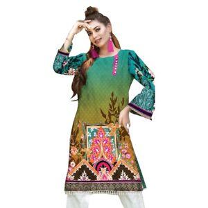 PLUS SIZE- Women Indian Kurti Pakistani Readymade Kurta Cotton Digital Print 7XL
