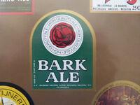 VINTAGE BELGIUM BEER LABEL. MARINE BREWERY - BARK ALE