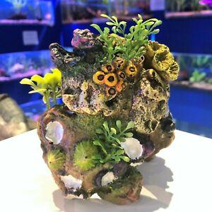 Hard Coral & Plastic Plants Colourful Fish Tank Aquarium Ornament COR2