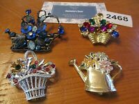 1  Lot  Estate Sale Brooches - GARDEN PARTY MIX - Danielle's Door - - Brooches