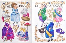 Go Baroque, The Pigs Paper Doll by Sandra Vanderpool,1994, Mag. Color Plate