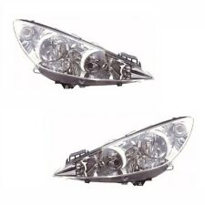 For Peugeot 308 Cc 2007-2011 Headlights Headlamps 1 Pair O/s & N/s
