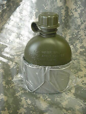 NEW, GI STYLE STAINLESS STEEL HEAVY GAUGE CANTEEN CUP, AND NEW OD 1 QT CANTEEN