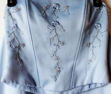 Jordan Limited 9/10 Embroidered Satin Bodice Skirt Shawl Formal Bridesmaid Dress