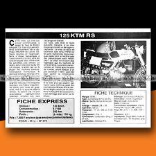 ★ KTM RS 125 COMET GRAND PRIX ★ 1976 Essai Moto / Original Road Test #c73