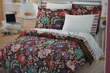 "PERI ""VINTAGE BLOSSOM"" TWIN/TWIN -XL COMFORTER & SHEET SET BROWN/PINK - 5PC"