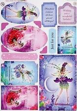 A4 enchanted pearlescent fée toppers-amethist