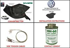 Volkswagen 1980-1994 VW Rabbit , Cabriolet Convertible Soft Top Replacement KIT