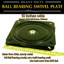 1pc - 10 inch (245mm) - Full Ball Bearing Flat Swivel Plate Turntable