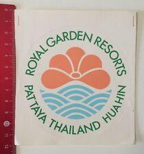 Aufkleber/Sticker: Royal Garden Resorts - Pattaya Thailand Huahin (020616134)
