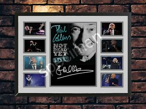 PHIL COLLINS SIGNED NOT DEAD YET TOUR 2016 LIMITED EDITION MEMORABILIA  A4 PRINT
