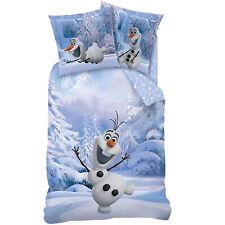 Biber Frozen 2 Die Eiskönigin Schneemann Olaf Bettwäsche 135x200 Snowman Flanell