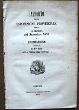 PERUGIA ESPOSIZIONE ANNO 1858
