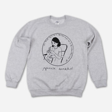 Japanese Breakfast Grey Pullover Sweatshirt Unisex Large