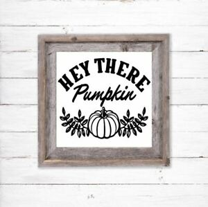 Halloween Vinyl Decal Sticker For Box Frame Shop Window Hey There Pumpkin Witch