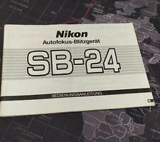 Manual de Instrucciones Nikon Flash SB-24 Original Alemán