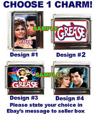 Grease Custom Italian Charm Newton John, Travolta Logo, Choose!