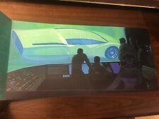 "Syd Mead 23x11"" US Steel 1960s Futurist print poster CAD concept car"