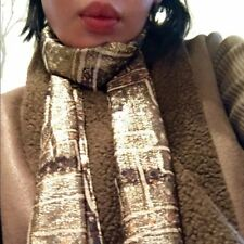 Isabel marant for h&m Gold Silk Fringe Scarf