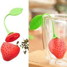 2 PZ Silicone Fragole porta bustine tè tè Foglia filtro per caffè Infusore