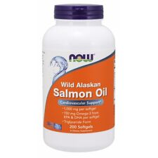 Now Foods Wild Alaskan Salmon Oil - 200 Softgels FRESH, FREE SHIPPING