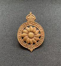WW1 Princess Patricia's Canadian Light Infantry CEF x 100% Original Cap Badge