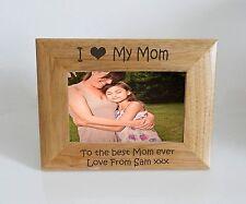 Mom Photo Frame 7 x 5 - I heart-Love My Mom 7 x 5 Photo Frame - Free Engraving