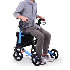 Folding Medical Rollator Walker Foldable Stable Compact Rolling Walker with Seat